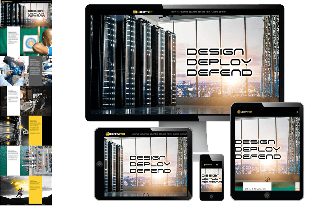 Liberty Port Responsive Website Design by Grapevine Communications Marketing, Advertising, Public Relations Agency, Sarasota